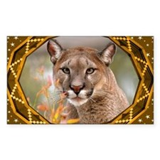 Geometric Cougar Decal