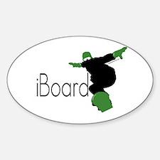 iBoard Oval Decal