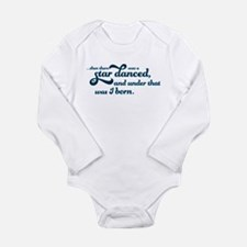 A Star Danced - Blue Long Sleeve Infant Bodysuit