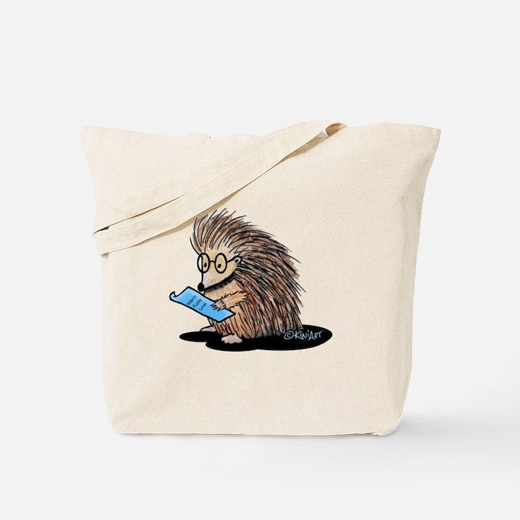 Warm Fuzzy Porcupine Tote Bag
