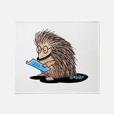 Warm Fuzzy Porcupine Throw Blanket