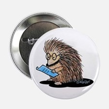 "Warm Fuzzy Porcupine 2.25"" Button"