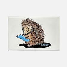 Warm Fuzzy Porcupine Rectangle Magnet