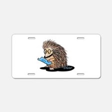 Warm Fuzzy Porcupine Aluminum License Plate