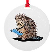 Warm Fuzzy Porcupine Ornament