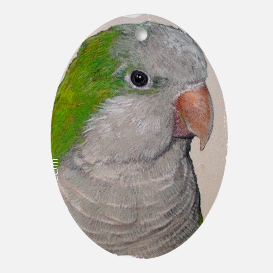 Quaker Parrot Oval Ornament