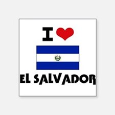 I HEART EL SALVADOR FLAG Sticker