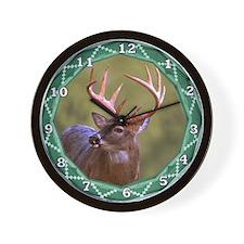 Geometric Buck Deer Wall Clock