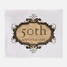 50th Aniversary (Rustic) Throw Blanket