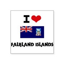 I HEART FALKLAND ISLANDS FLAG Sticker