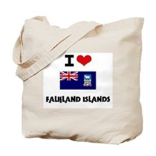 I HEART FALKLAND ISLANDS FLAG Tote Bag