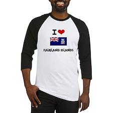I HEART FALKLAND ISLANDS FLAG Baseball Jersey