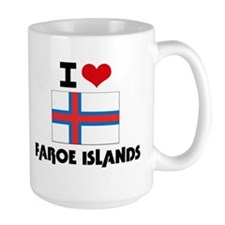 I HEART FAROE ISLANDS FLAG Mug