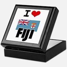 I HEART FIJI FLAG Keepsake Box