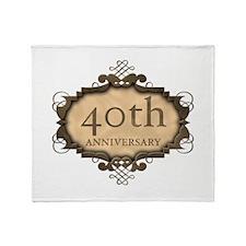 40th Aniversary (Rustic) Throw Blanket