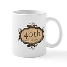 40th Aniversary (Rustic) Small Mug