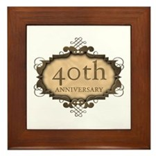 40th Aniversary (Rustic) Framed Tile