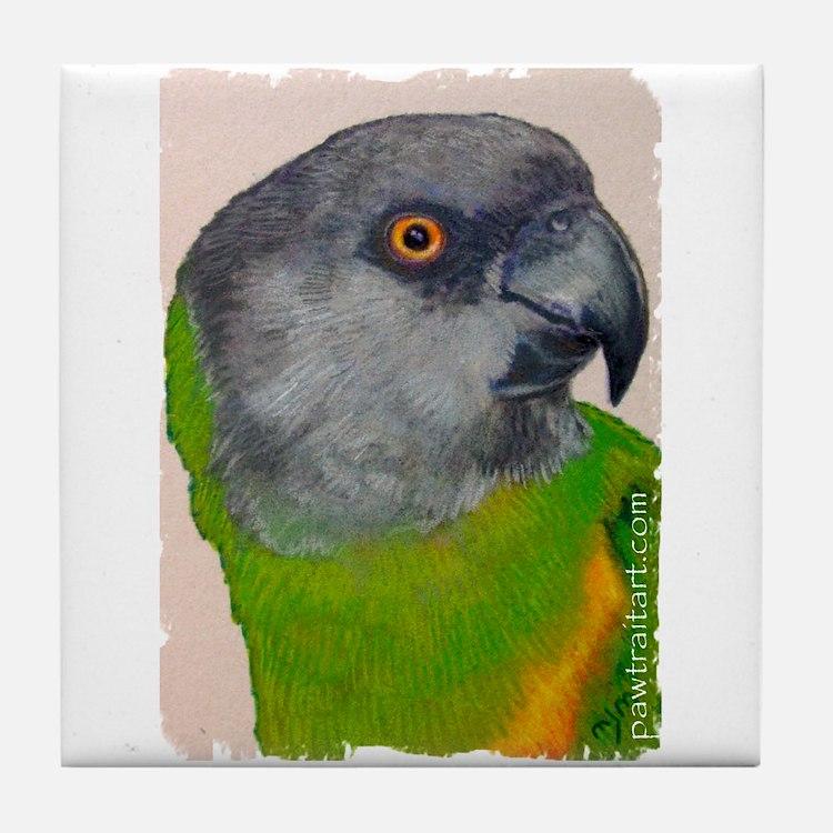 Senegal Parrot Tile Coaster