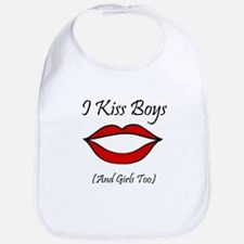I Kiss Boys (and girls too) Bib