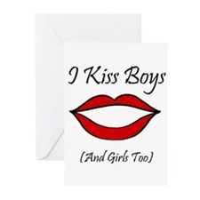I Kiss Boys (and girls too) Greeting Cards (Packag