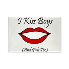I Kiss Boys (and girls too) Rectangle Magnet
