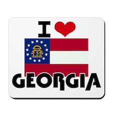 I HEART GEORGIA FLAG Mousepad