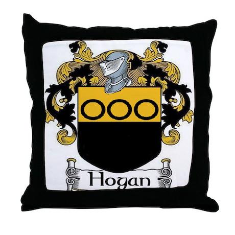 Hogan Coat of Arms Throw Pillow