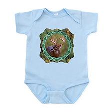 Geometric Buck Deer Infant Bodysuit