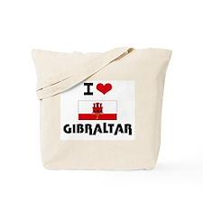I HEART GIBRALTAR FLAG Tote Bag