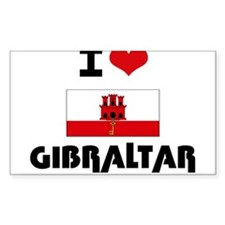 I HEART GIBRALTAR FLAG Decal