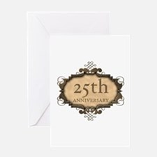 25th Aniversary (Rustic) Greeting Card