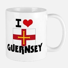 I HEART GUERNSEY FLAG Mug