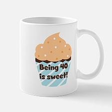 Cupcake Sweet 40th Birthday Mug
