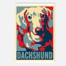 COLORFUL DACHSHUND Postcards (Package of 8)