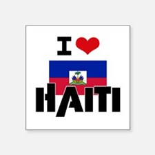 I HEART HAITI FLAG Sticker