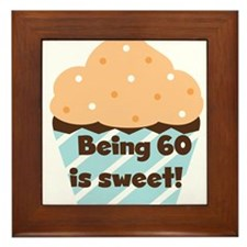 Cupcake Sweet 60th Birthday Framed Tile