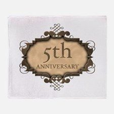 5th Aniversary (Rustic) Throw Blanket