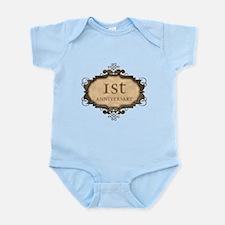 1st Aniversary (Rustic) Infant Bodysuit