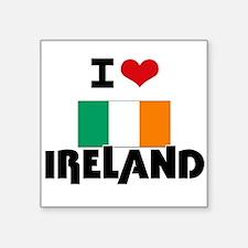 I HEART IRELAND FLAG Sticker