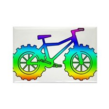 fat tire logo reinbow Rectangle Magnet