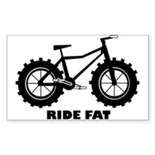 fat tire logo Ride Fat Decal