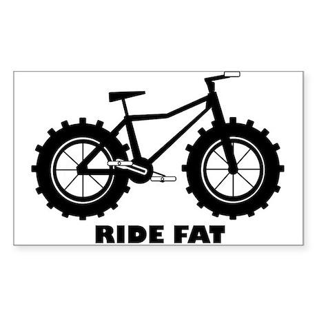 fat tire logo Ride Fat Sticker