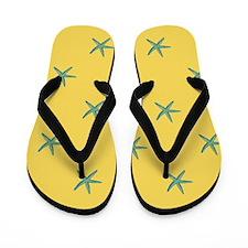 Blue Starfish Flip Flops