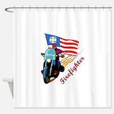 Firefighter Bikers Shower Curtain