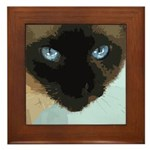 Siamese Cat Framed Tile