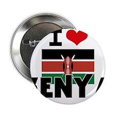 "I HEART KENYA FLAG 2.25"" Button"