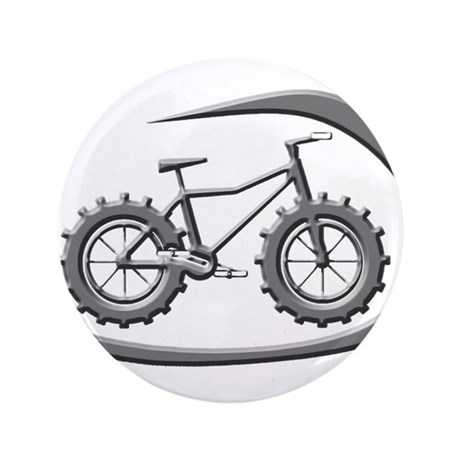 "Awesome chrome swoop logo 3.5"" Button"