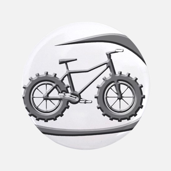 """Awesome chrome swoop logo 3.5"""" Button"""