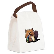 Beaver Lover Canvas Lunch Bag
