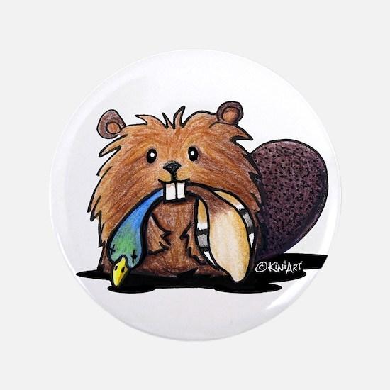 """Beaver Lover 3.5"""" Button"""